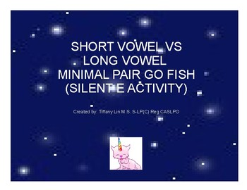 Short Vowel vs Long Vowel Minimal Pair GO FISH (Silent E)