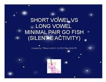 Short Vowel vs Long Vowel Minimal Pair GO FISH (Silent E)
