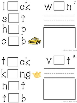 Short Vowel (with pictures) Interactive Logic Book
