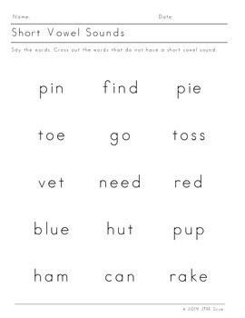 Short Vowels (12 pack)