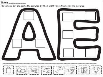 CVC Worksheets with Short Vowel Practice