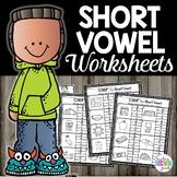 Short Vowels Worksheets Color the Sound