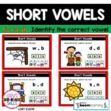 Short Vowels  -  50 Digital Task Cards