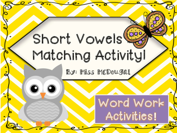 Short Vowels Activities