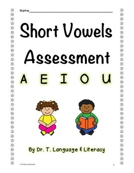 Short Vowels Assessment