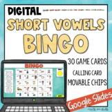 Short Vowel BINGO   Google Slides   Digital Game