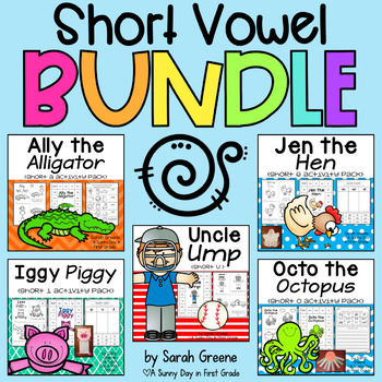 Short Vowels BUNDLED {5 short vowels packs!}