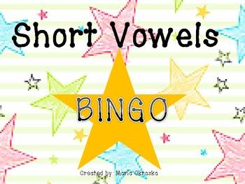 Short Vowels Bingo Game