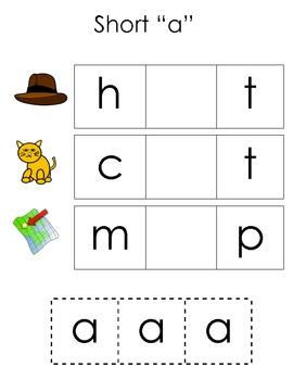 Short Vowels Booklet for kids