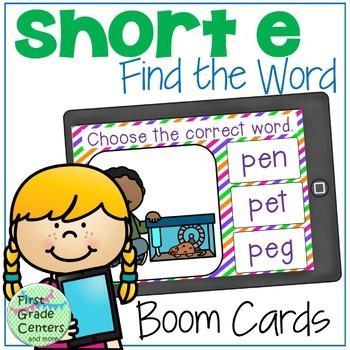Short Vowels Boom Cards Bundle Find the Words