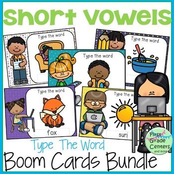 Short Vowels Boom Cards Bundle Type the Words