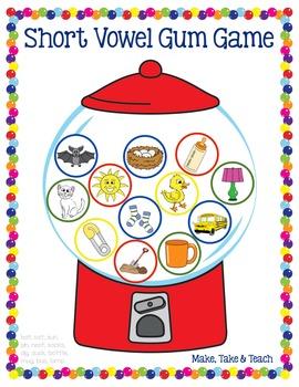 Short Vowels- Bubble Gum Game