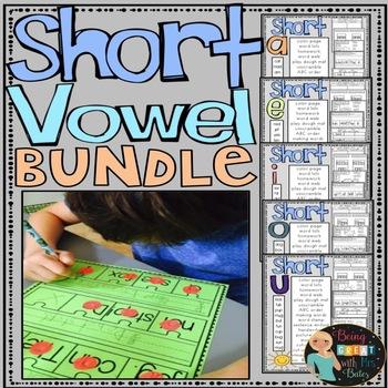 Short Vowels Bundle Hands-on Spelling and Phonics