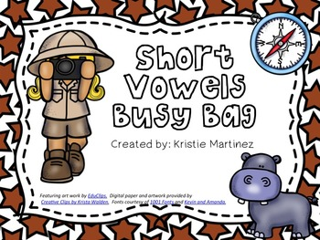 Short Vowels Busy Bag BUNDLE