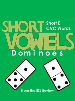 Short Vowels CVC Dominoes - Short E