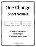 "Short Vowels (CVC)- ""One Change"" Whiteboard Game"