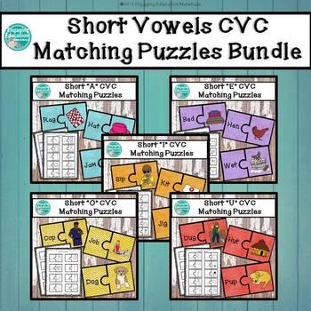 Short Vowels CVC Puzzles Bundle