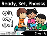 CVC Short A Differentiated Board Games (First Grade Phonics) FREEBIE
