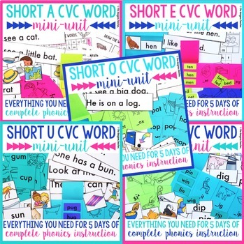 Phonics By Design Short Vowels CVC Word Unit BUNDLE