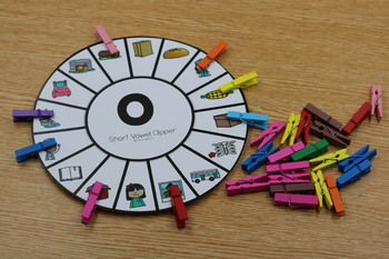 Short Vowels CVC Word Clippers