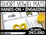 Short Vowels CVC Word Dough Mats