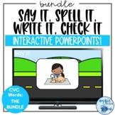 CVC Words Game   Word Work PowerPoints   Kindergarten CVC Words
