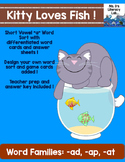 Short A Word Sorts  (Kitty & Fishes)