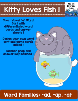 Short A Word Sort (Kitty & Fishes)