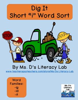 Short I Word Families (Construction)