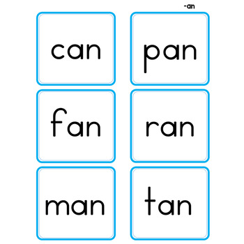 Short Vowels Picture Words Pocket Chart