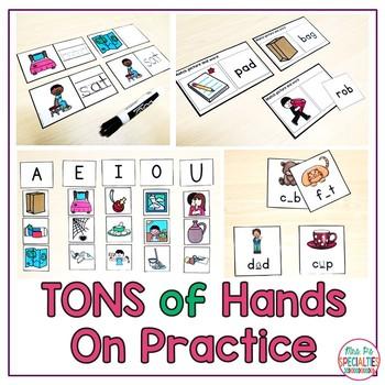 Short Vowels & CVC Words Unit {Special education & Autism Resource}