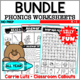 Distance Learning Phonics Worksheets Bundle Distance Learning