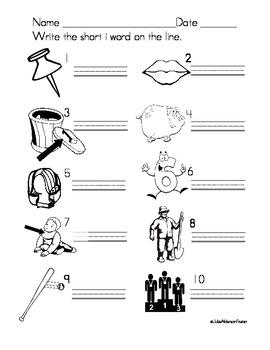 Short Vowels CVC pattern