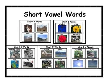 Short Vowels Cards