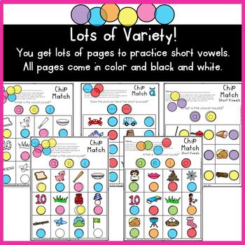 Short Vowels Chip Match