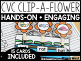 Short Vowels Clip-A-Flower Hands-On Center