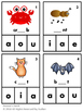 Short Vowels Clip Cards