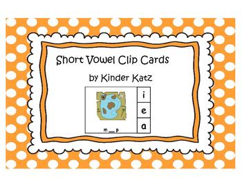 Short Vowels Clip Cards