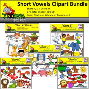 Short Vowels Clipart Bundle