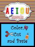 Short Vowels Color, Cut and Paste
