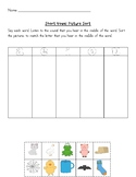 Short Vowels - Cut and Paste Sorting Worksheet - No prep!