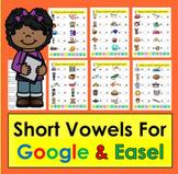 Short Vowels Digital Google Slides Kindergarten First Grad