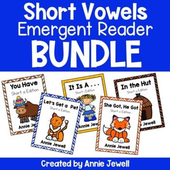 Short Vowels Emergent Readers BUNDLE - 5 Readers - Several Print Options
