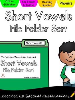 Short Vowels File Folder Sort (Orton-Gillingham)