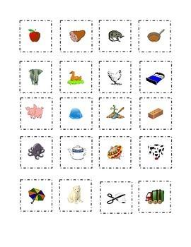 Short Vowels Flash Cards Cut Out Paste Match a e i o u  Kindergarten Sight Words
