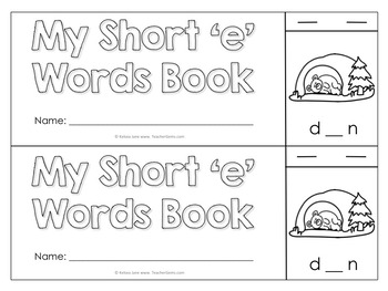 Short Vowels Flip Books
