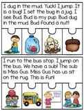 Short Vowels Reading Passages Fluency and Comprehension Puzzles (Sequencing)