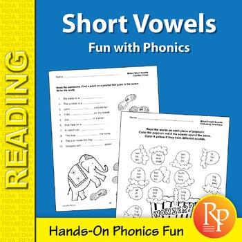Short Vowels: Fun with Phonics Games & Hands-On Activities