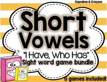 Short Vowels Game Bundle