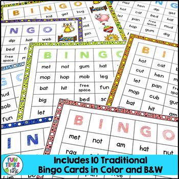 Short Vowels Game: CVC BINGO